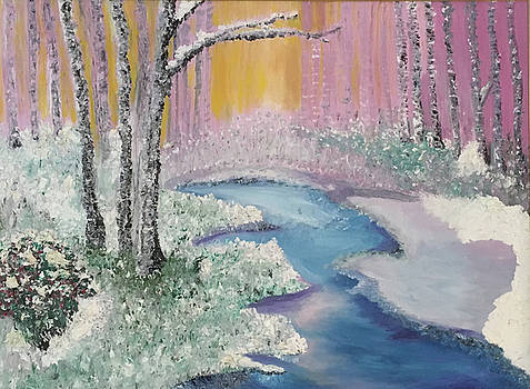 The Four Seasons of the 3 Birch Trees - Winter by Susan Grunin