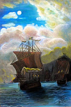 The Galleon by Pilar  Martinez-Byrne