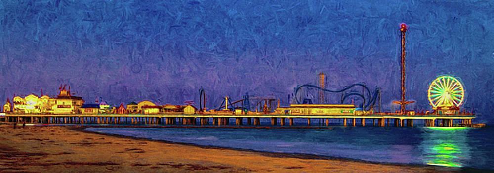 The Galveston Pleasure Pier by Ray Keeling