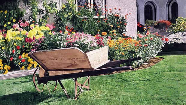 The Gardeners Wheelbarrow by David Lloyd Glover