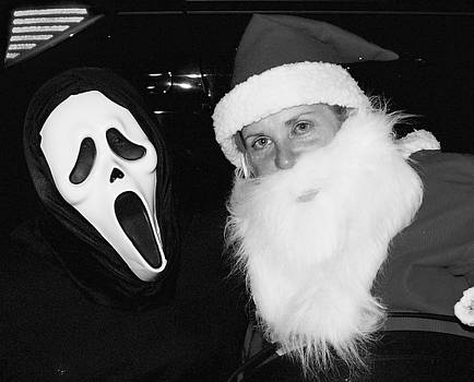 The ghost and Santa by Hugh Peralta