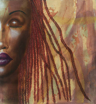 The Girl with Red Locs by Fred Odle