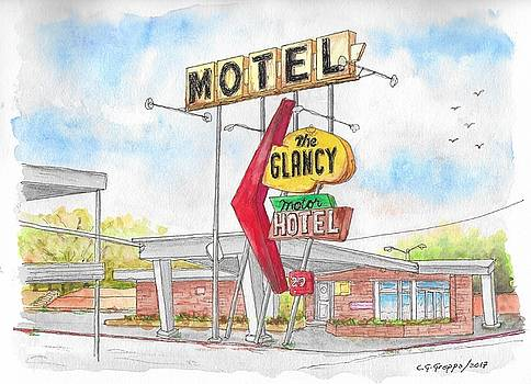 The Glancy Motor Hotel, Cinton, Oklahoma by Carlos G Groppa