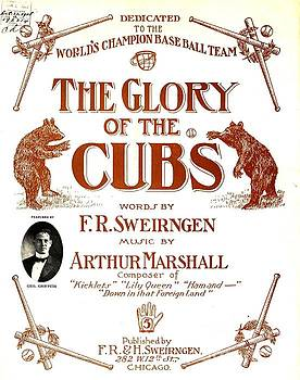 Peter Gumaer Ogden - The Glory of the Cubs Chicago Cubs Poster 1908