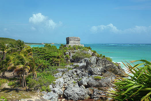 The God of Winds Temple at Tulum by John M Bailey