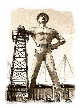 The Golden Driller by Margie Middleton