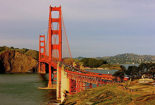 The Famous Golden Gate Bridge In San Francisco California by Lorna Maza