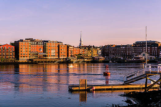 The Golden Portsmouth Waterfront Just Before Sunset Last Night by Devin LaBrie