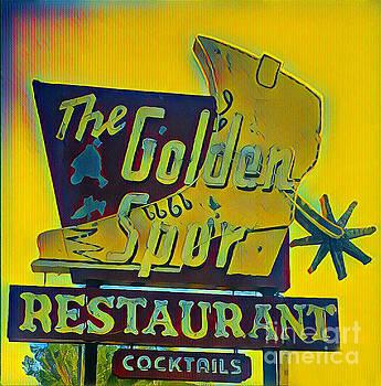 Gregory Dyer - The Golden Spur Restaurant Vintage Sign