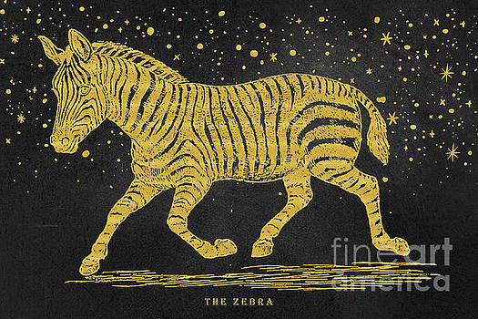 The golden Zebra by Angela Doelling AD DESIGN Photo and PhotoArt