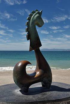 Reimar Gaertner - The Good Fortune Unicorn bronze sculpture on Malecon Puerto Vall