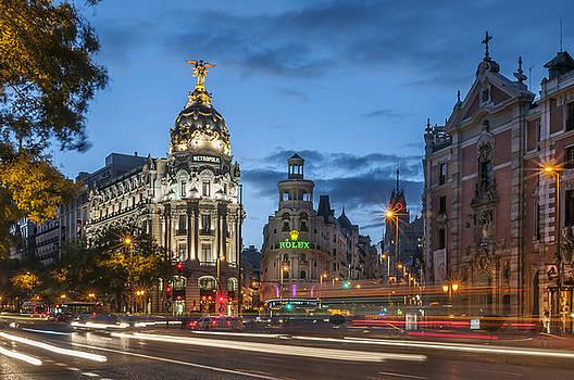 The Gran Via Madrid Spain by Ayhan Altun