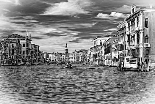 Steve Harrington - The Grand Canal - Paint bw