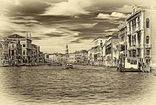 Steve Harrington - The Grand Canal - Paint sepia
