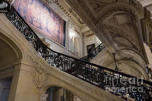 The Grand Staircase The Breakers Vanderbilt Mansion Newport Rhode Island by Wayne Moran