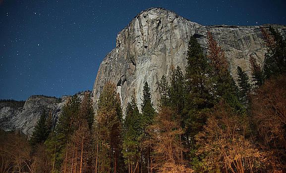 The great El Capitan under the moonlight by Khalid Mahmoud