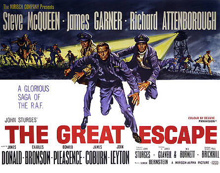 Daniel Hagerman - The GREAT ESCAPE MOVIE VINTAGE LOBBY POSTER  1963