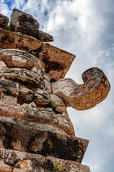 The Great God Chac at the Nunnery in Chichen Itza by Daniela Constantinescu