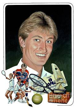 The Great One - Oiler Days by Michael Swanson