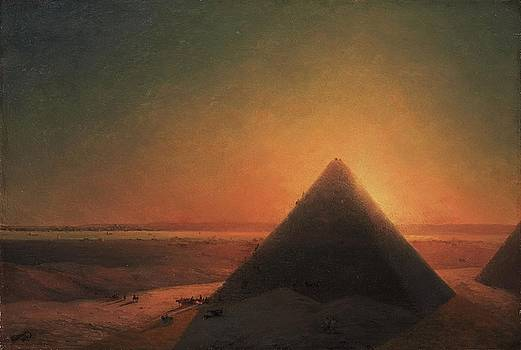 The Great Pyramid At Giza by Ivan Aivazovsky