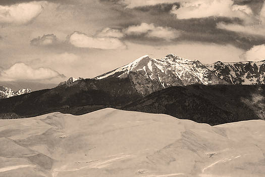 James BO  Insogna - The Great Sand Dunes and Sangre de Cristo Mountains - Sepia