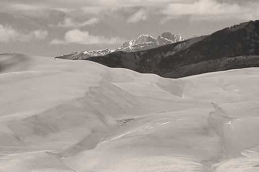 James BO  Insogna - The Great Sand Dunes  BW Sepia