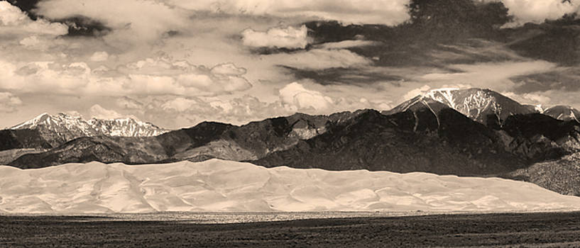 James BO  Insogna - The Great Sand Dunes Panorama 2 Sepia