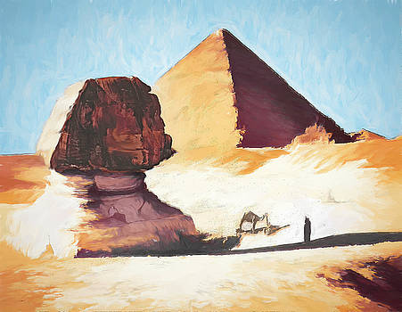 JS Stewart - The Great Sphinx and Pyramid