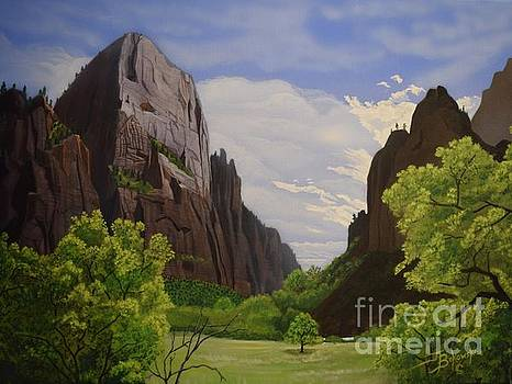 The Great White Throne ZION by Jerry Bokowski