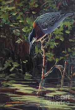 The Green Heron by Valentin Katrandzhiev