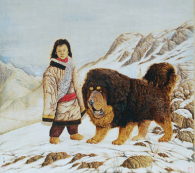 The guard of heaven the first of Tibetan Mastiff series by Peter Green