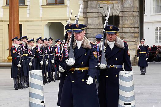 The Guards of the Democracy . Prague Castle. Prague spring 2017 by Jouko Lehto