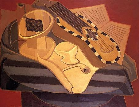 The Guitar With Inlay 1925 by Gris Juan