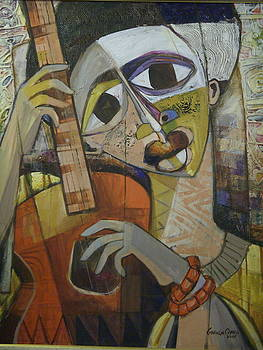 The Guitarist by Gbenga offo