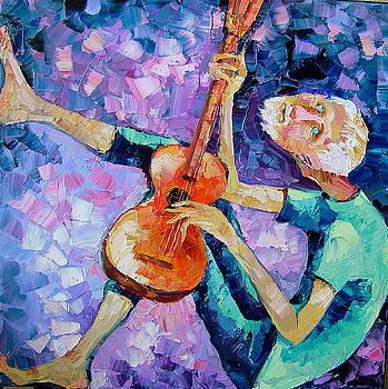 The Guitarist by Keren Gorzhaltsan