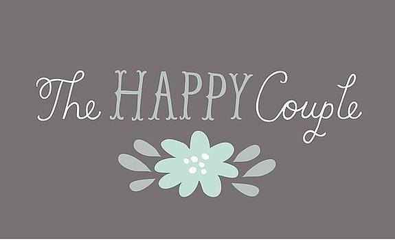 The Happy Couple Lettering With Flower by Gillham Studios
