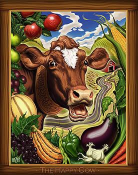 The Happy Cow by Garth Glazier