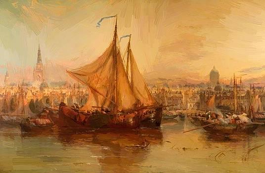 Webb James - The Harbour Amsterdam 1876