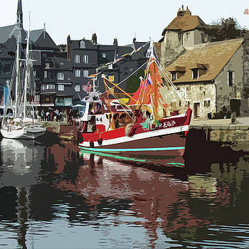 James Hill - The Harbour at Honfleur