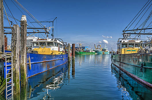 The Harbour of Yerseke by Frans Blok