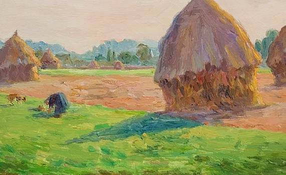 The Haystacks 1895 by Guillaumin Armand