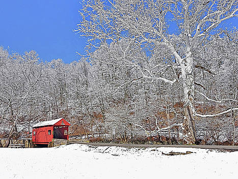 The Henry Bridge After A Late Winter Snow by Digital Photographic Arts