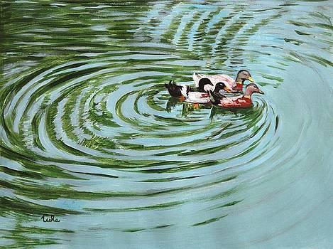 Usha Shantharam - The Herd - Ducks