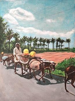 Usha Shantharam - The Herd 4 -Donkey Herd