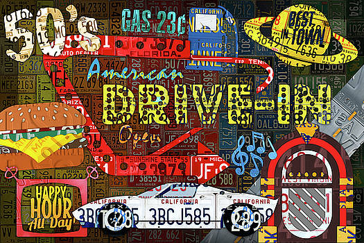 The Highway Never Closes License Plate Art Collage by Design Turnpike