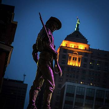 The Hiker Downtown Buffalo by Colin Collins