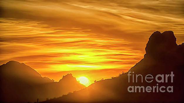 The Hills of Arizona at Sunset by Maggie Magee Molino