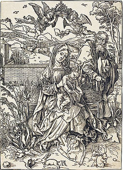 Albrecht Durer - The Holy Family with the Three Hares