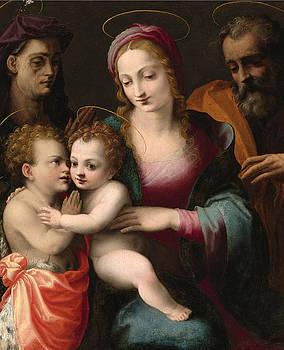 Francesco del Brina - The Holy Family with the Young Saint John the Baptist and Saint Elizabeth