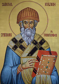The holy hierarch Spiridon of Trimitunde by Lembrau Iulian